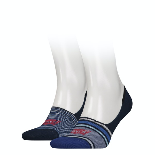 Levi's 2 Pack Low Rise Multi Stripe Socks