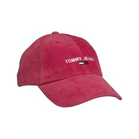 Tommy Jeans Sport Cap Corduroy Damen Mütze - Claret Red