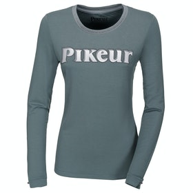 Pikeur Ally Ladies Long Sleeve T-Shirt - Steelblue