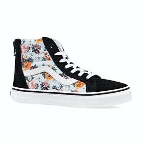 Vans Sk8 Hi Zip Kids Shoes - Garden Floral True White