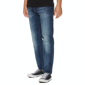 Jeans Superdry Daman Straight - Sixways Mid Blue