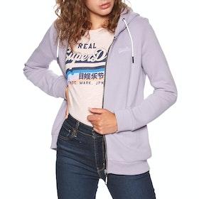 Superdry Orange Label Elite Womens Zip Hoody - Dusty Lilac