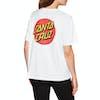Santa Cruz Classic Dot Womens Short Sleeve T-Shirt - White