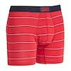 Saxx Underwear Vibe Boxer Shorts - Red Shallow Stripe