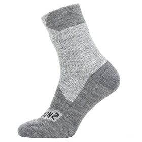 Sealskinz Waterproof All Weather Ankle Length Outdoor Socks - Grey Grey Marl