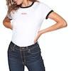 T-Shirt à Manche Courte Femme Levi's Perfect Ringer - Baby Tab White