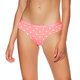 Superdry College Brief Double Pack Womens Knickers - Pink Aop Navy Stripe