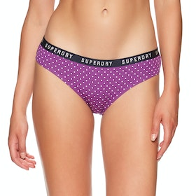 Superdry College Brief Double Pack Womens Knickers - Ultra Violet Navy
