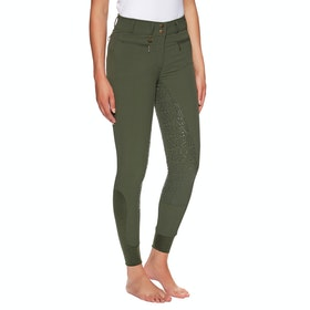Derby House Elite High Waist Gel Full Seat Ladies Riding Breeches - Rifle Green