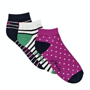 Joules Brilliant Bamboo Shortie 3 Pack Dames Fashion Socks