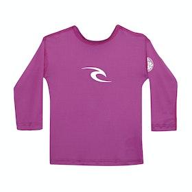 Rip Curl Corpo Long Sleeve Girls Rash Vest - Purple