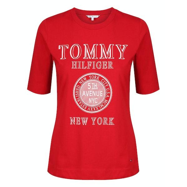 Tommy Hilfiger Darcy C-nk Damski Koszulka z krótkim rękawem