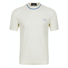 Fred Perry Re Issues Crew Neck Pique Kurzarm-T-Shirt - Ecru