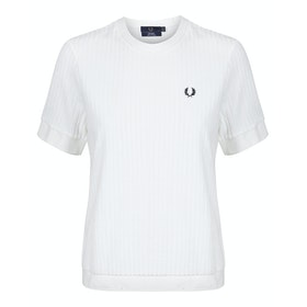 Fred Perry Re Issues Crew Neck Towelling Short Sleeve T-Shirt - Snow White