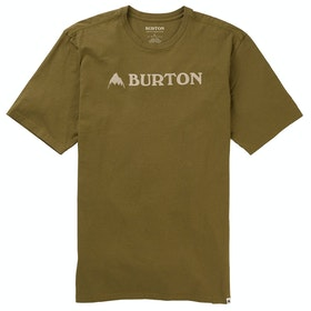 Burton Horizontal Mountain T Shirt - Martini Olive