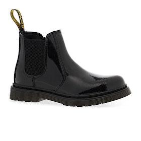 Dr Martens 2976 Kids Boots - Black Patent Lamper