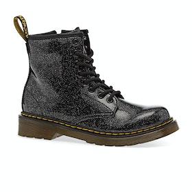 Dr Martens 1460 Glitter Kids Boots - Black Coated Glitter