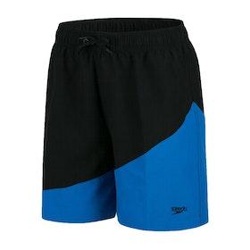 Boardshort Speedo Colour Block 15 inch Water - Black Aqua Splash