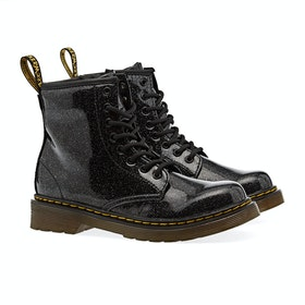 Dr Martens 1460 Glitter Kid's Boots - Black Coated Glitter