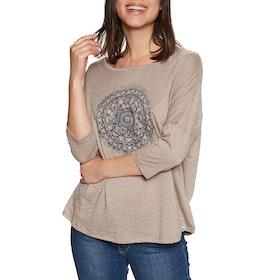 Animal Cosmica Womens Long Sleeve T-Shirt - Etherea Beige