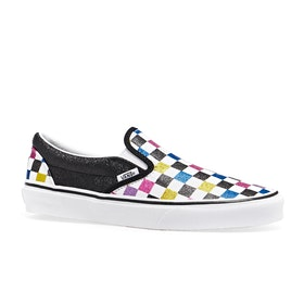 Vans Classic Slip On Womens Shoes - (Glitter Checkerboard) Black True White