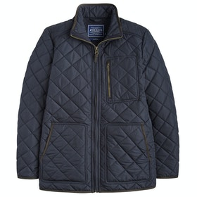 Joules Derwent Longer Length Quilted Jas - Marine Navy