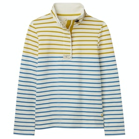 Joules Saunton Funnel Neck Ladies Sweater - Gold Cream Blue Stripe