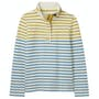Gold Cream Blue Stripe