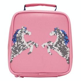 Joules Munch Girls Lunch Bag - Pink Sequin Horse