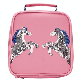 Joules Munch Girl's Lunch Bag - Pink Sequin Horse