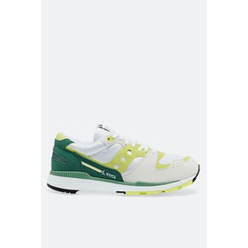 Saucony Azura Shoes - White Green Lime