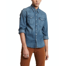 Levi's Barstow Western Shirt - Bruised Indigo Mid