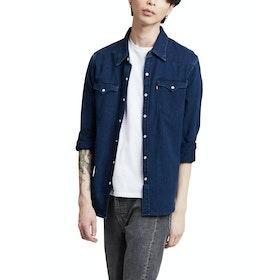 Levi's Barstow Western Shirt - Indigo Flannel Mid T2 H2 19