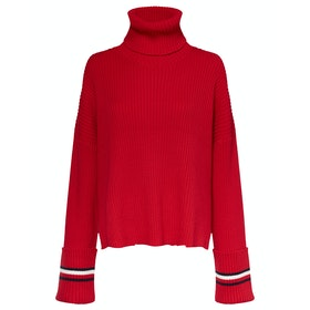 Tommy Hilfiger Hasel Roll-nk Damen Pullover - Haute Red