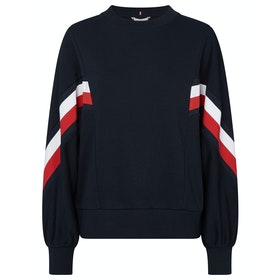 Tommy Hilfiger Kitty Open-nk Sweatshirt Women's Sweater - Sky Captain