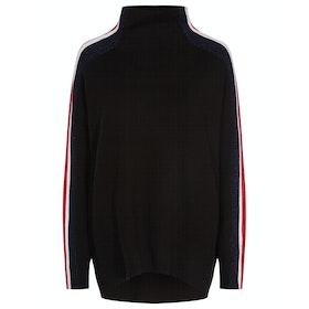 Tommy Hilfiger Maisy Mock-nk Women's Sweater - Meteorite