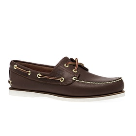 Dress Shoes Timberland Classic 2 Eye Boat - Mid Brown Full Grain