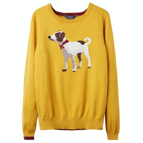 Joules Miranda Ladies Sweater - Gold Terrier