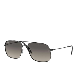 Ray-Ban Andrea Sunglasses - Rubber Black ~ Grey Gradient Dark Grey