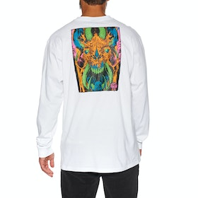 Camiseta de manga larga Santa Cruz Primeval Blacklight - White