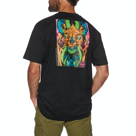 Camiseta de manga corta Santa Cruz Primeval Blacklight - Black