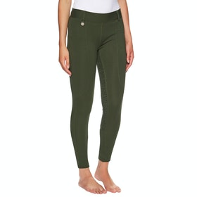 Derby House Pro Gel Ladies Riding Tights - Rifle Green