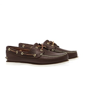 Timberland Classic 2 Eye Boat Dress Shoes - Mid Brown Full Grain