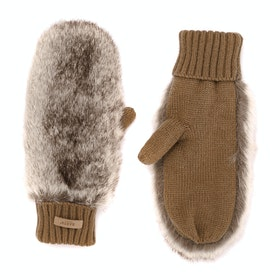 Barts Dorothy Mitts Womens Gloves - Heather Brown