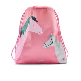 Joules Active Girls Gym Bag - Pink Horses