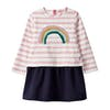 Joules Lucy Dress - Pink Stripe Sequin Rainbow