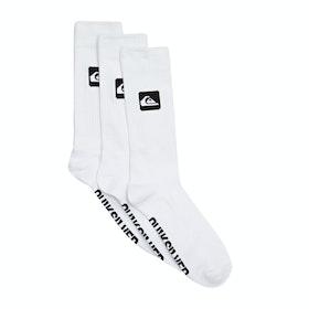 Quiksilver 3 Crew Pack Socks - White