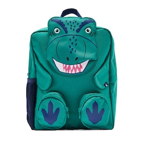 Joules Zippyback Kid's Backpack - Green Dino