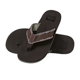 Reef Twinpin Fray Sandals - Brown