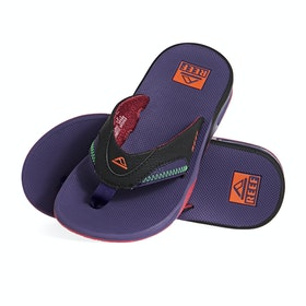 Reef Fanning Sandals - Black Purple